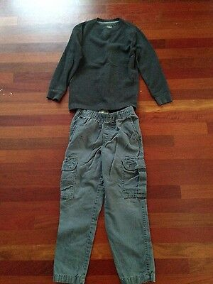 The Children's Place/Faded Glory Boys Size 7/8 Pants & Top Lot/Outfit/Set