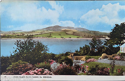 INCH ISLAND FROM FAHAN CO  DONEGAL POSTCARD FROM 1930's IRISH POSTCARD IRELAND