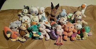 Precious Moments - Lot Of 23! Tender Tails Plush Bean Bag Animals Collectables
