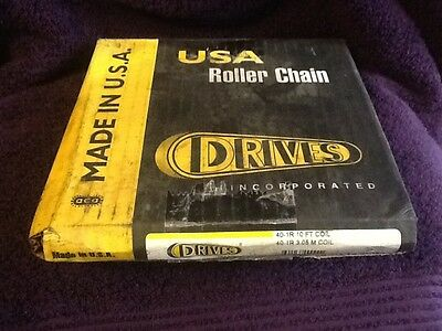 DRIVES 40-1R ROLLER CHAIN 10ft. NEW IN BOX