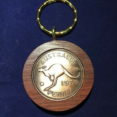 50th Birthday Gift Present 1967 Jarrah Penny Keyring other years available