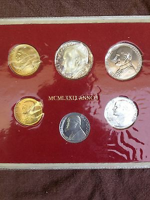 Vatican City Mint Coin Set 1978 With Silver Look!