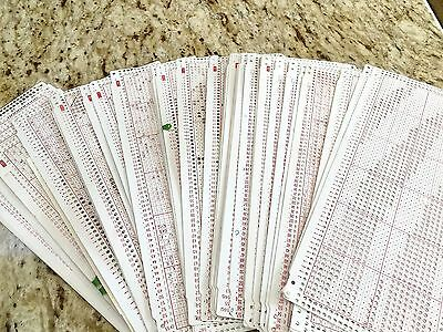 About 40 Home Made Punchcards 24 S Punch Cards Lot #20