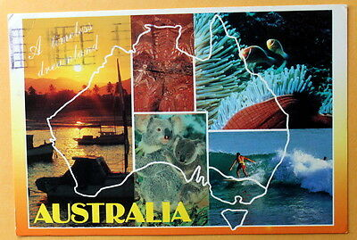 Australia  - A Timeless Dreamland - used postcard -