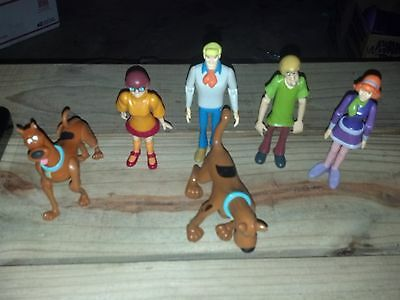 Scooby Doo & The Gang Shaggy, Velma, Daphney, Fred Poseable