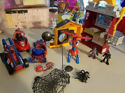 Spiderman Playset Helicopter Snowmobile With Green Goblin