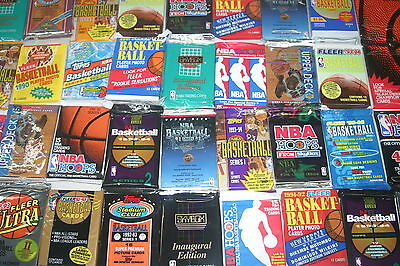 Lot Of 100 Old Unopened Basketball Cards In Packs