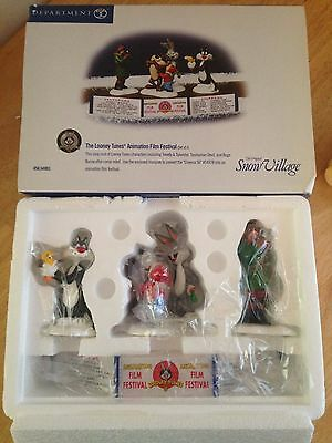Dept 56 Snow Village - Looney Tunes Animated Film Festival - NIB