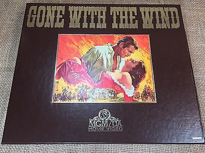 MGM Home Video Gone With The Wind VHS Movie Collectors Edition Box Set of Tapes
