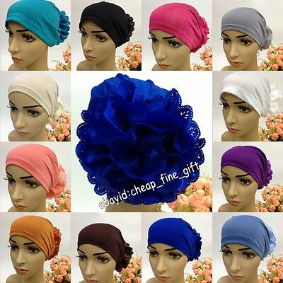 ARAB BIG FLOWER Muslim Women Caps Islamic Hijab Hats Turkey Headwear Lot