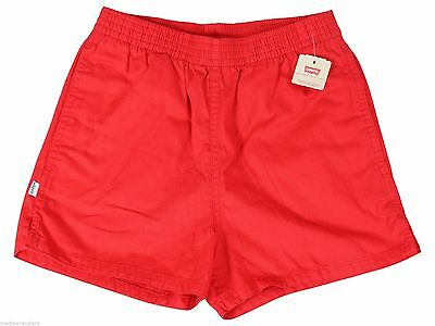 """NEW VTG 80s LEVIS Red SHORT SHORTS 26"""" Waist Youth Medium Adult X-Small NWT NOS"""