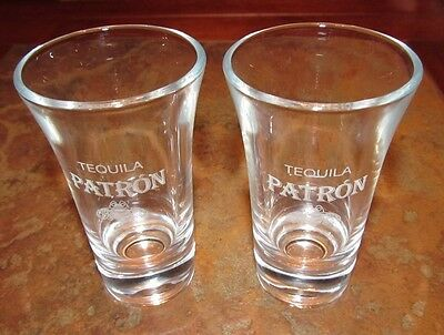 PATRON Tequila Glasses - Set of 2 - NEW!