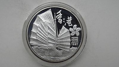 Turks and Caicos 20 Crowns 1997 Sailing Junk Ship Silver Proof coin