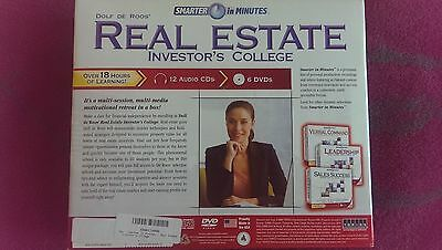 Real Estate Investor's College by Dolf de Roos BRAND NEW ! (12 CDs & 6 DVDs)