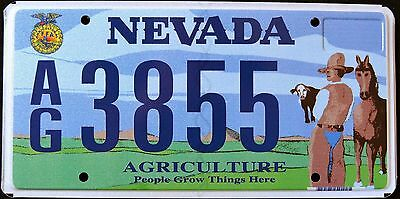 "NEVADA "" AGRICULTURE - FARM - HORSE "" MINT "" DISCONTINUED Graphic License Plate"