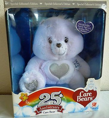 2007 25th Anniversary Care Bear w/ Swarovski Crystal & Sterling Silver Accents