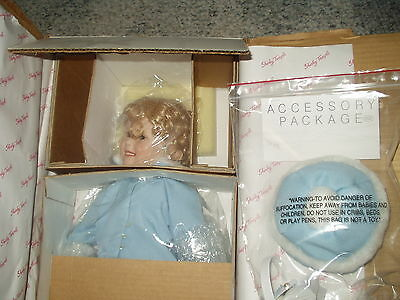 "MIB 17"" SHIRLEY TEMPLE PORCELAIN DOLL, Toddler Doll Collection, Danbury Mint"