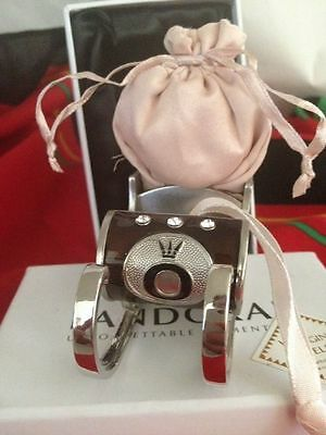 """Authentic Pandora 2010 Sleigh Ornament/gift Bag In Box-Perfect """"wrap"""" 4 Jewelry"""