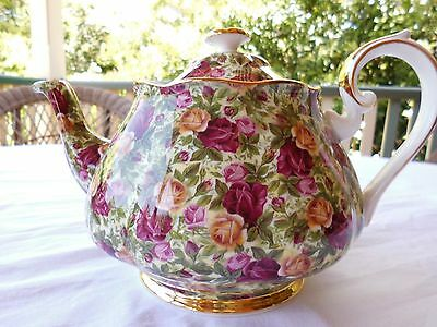 Royal Albert, Chintz Collection, Large Teapot, Made In England