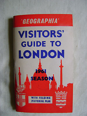 1961 Geographia Visitors' Guide to London with folding pictorial plan