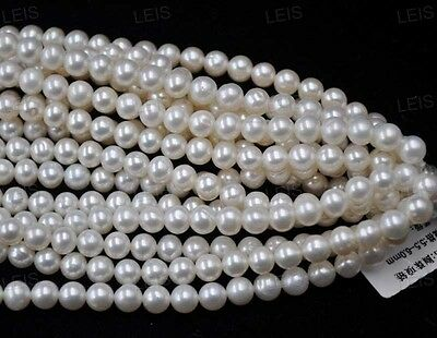 AA wholesale 12 strands 6-7mm white pearl JEWELRY Free shipping