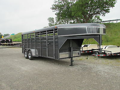 New 20' Gooseneck Horse / Stock Trailer * Year End Sale Going On Now *dr Trailer