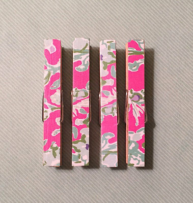 Lilly Pulitzer Southern Charm Clothespin Magnets Set of four, Pink, Blue, Green