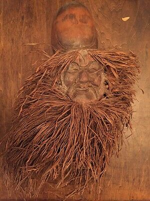 Hand Carved Wooden Bearded Man