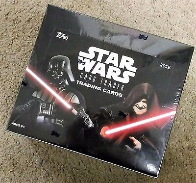 2016 Topps Star Wars Card Trader Hobby Box Free Same Day Priority Shipping New