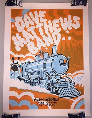 Dave Matthews Band Poster 2008 Omaha Nebraska Qwest Center #/425 Rare!!!