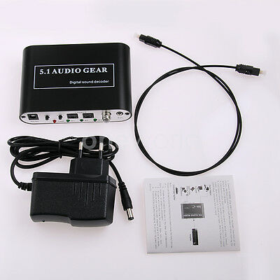 Digital Optical Audio Gear Decoder Coaxial to 5.1 2.1 Channel AC3 Stereo