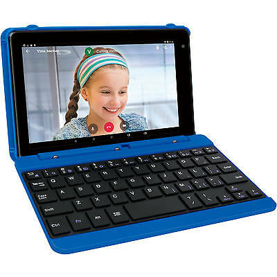 """RCA 7"""" Tablet 16GB Tablet with Keyboard Case Android 6.0 (Marshmallow) BLUE"""