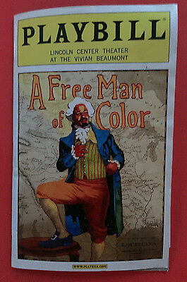 A FREE MAN OF COLOR Playbill w/ Jeffrey Wright, Mos Def (John Guare)