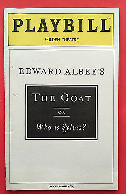 GOAT OR WHO IS SYLVIA Playbill w/ Bill Pullman, Mercedes Ruehl (June 2002)