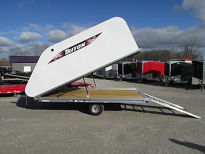 New Triton 12' Snowmobile Trailer On/off Model * Year End Sale * Dr Trailer