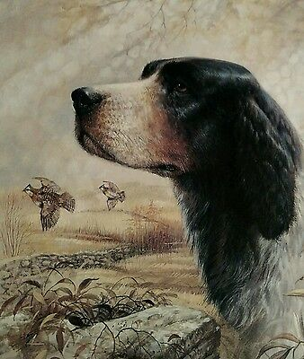 Signed/#ed Ruane Manning Lithoprint Retriever hunting dog