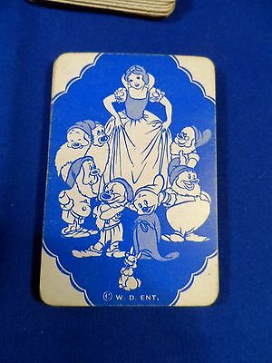 Vintage Disney Snow White Playing Cards Small Deck in Box Complete RARE!