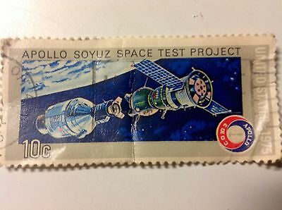 Vintage~Nasa .10 Stamp~Usa-Ussr Apollo 1975 Soyuz Space Test Project~Historical!