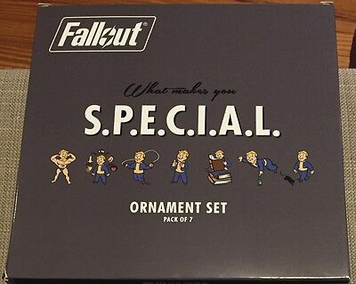 Fallout SPECIAL Perks Holiday Ornament 7-Pack 2016 NIB! One of 2500!