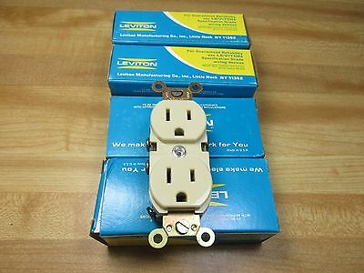 Lot of 4 Leviton 5252-I  Receptacles Duplex Outlet 15A 125V New in Box USA made