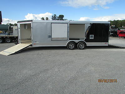 NEW RC 27' Enclosed Auto Snowmobile Trailer LOADED * BEST DEALS @ DR TRAILER*