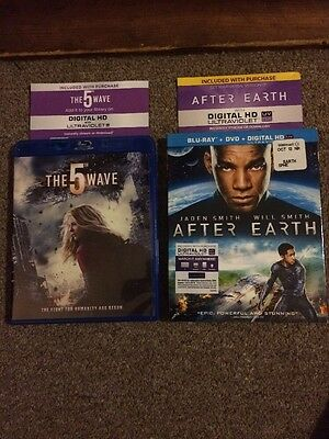 Digital HD Codes For The Movies The 5th Wave And After Earth