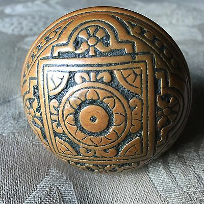 Antique Victorian Vernacular Ornate Brass Door Knob  Architectural Salvage
