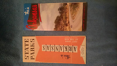 2 OLD Vtg Brochures This is Arkansas + State Parks late 1950's