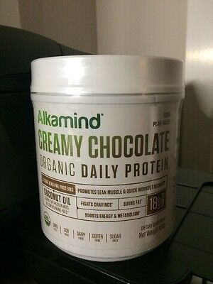 AlkaMind Organic Daily Protein - Creamy Chocolate 450 grams (FACTORY SEALED)