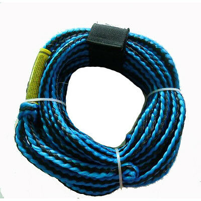Riders Inc 3 Person Water Ski Biscuit Inflatable Tow Tube Rope-BLUE