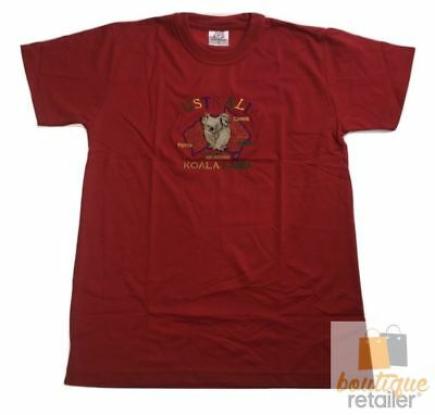 Adult AUSTRALIAN T Shirt Australia Day 100% COTTON Souvenir Tee Top KOALA New