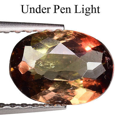 0.910cts IMPRESSIVE MAJESTIC COLOUR CHANGE BROWN NATURAL AXINITE OVAL GEMSTONES