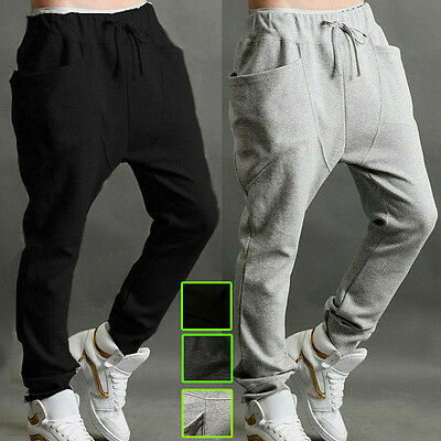 Men's Track Pants Casual Sports Dance Hip Hop Harem Slacks Sweats Gym Trousers
