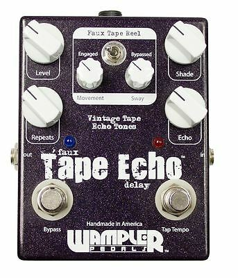 Wampler Faux Tape Echo / Delay w/ Tap Tempo Guitar Effects Pedal